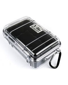 Clear & Black Peli 1050 Micro Case