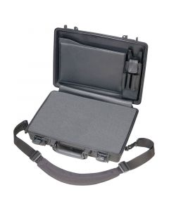 Black Peli 1490CC2 Laptop Case (Foam & Lid Organiser)