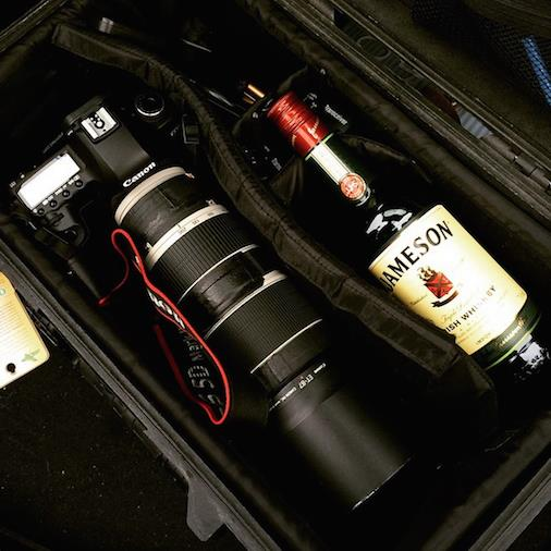 whisky in a case