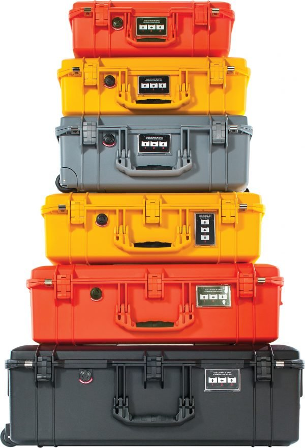 Stack of Peli Air Cases