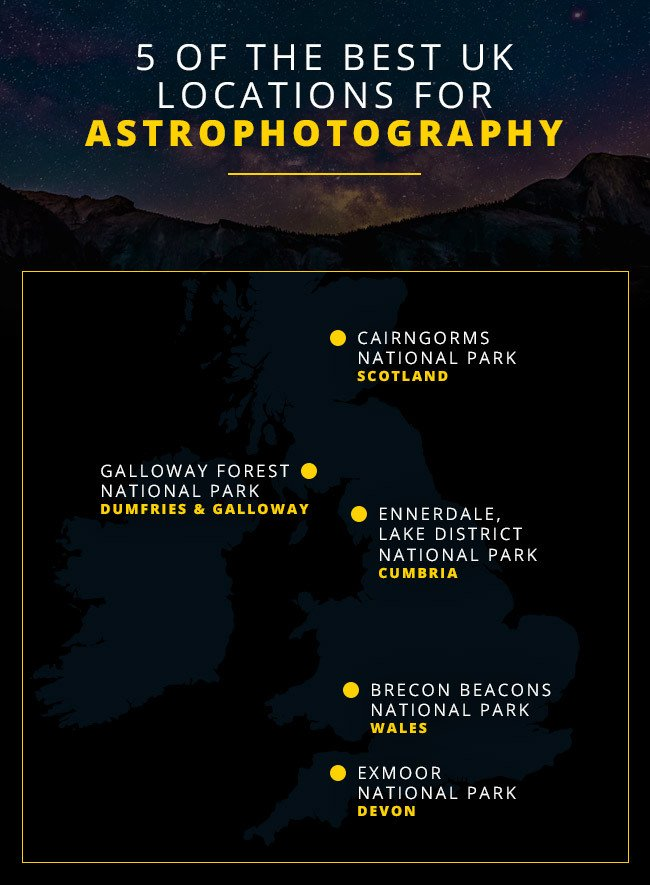 Map - the best UK locations for astrophotography