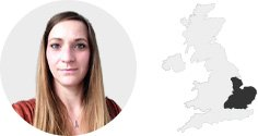 Carly Brown - Home Counties map